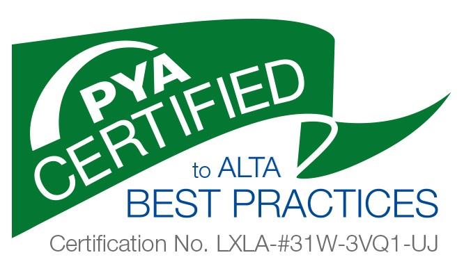 ALTA Best Practices Certified  